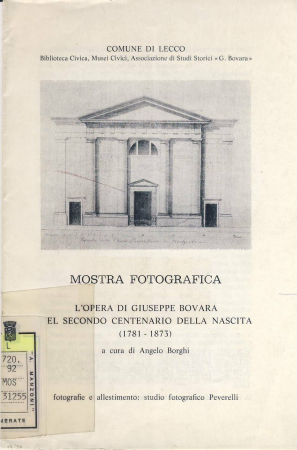L'opera di Giuseppe Bovara nel secondo centenario della nascita, (1781-1873)