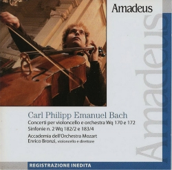 Concerti per violoncello e orchestra Wq 170 e172 [Audioregistrazione] ; Sinfonie n. 2 Wq 182/2 e 183/4