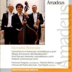 Concertino in si minore per contrabbasso e archi [Audioregistrazione] ; Allegro in concerto 'alla Mendelssohn' ; Gran duo per clarinetto, contrabbasso e archi ; Andante sostenuto per archi