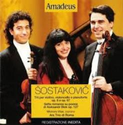 Trii per violino, violoncello e pianoforte op. 8 e op. 67 [Audioregistrazione] ; Sette romanze su poesie di Aleksandr Blok op. 127