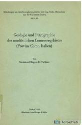 Geologie und Petrographie der nordostlichen Comerseegebietes (Provinz Como, Italien)