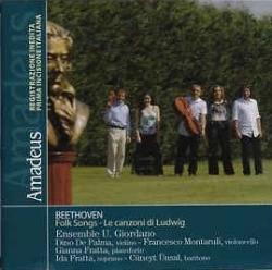 Folk songs [Audioregistrazione] : stamattii le canzoni di Ludwig / Beethoven ; Ensemble U. Giordano