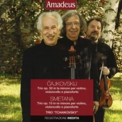 Trio op. 50 in la minore per violino, violoncello e pianoforte [Audioregistrazione] / Cajkovskij . Trio op. 15 in re minore per violino, violoncello e pianoforte / Smetana ; Trio Tchaikovsky