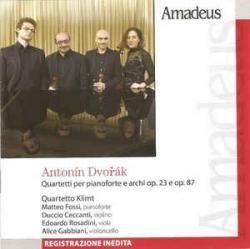 Quartetti per pianoforte e archi op. 23 e op. 87 [Audioregistrazione] / Dvorak ; Quartetto Klimt