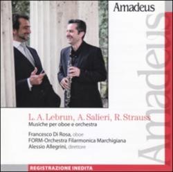 Musiche per oboe e orchestra [Audioregistrazione] / L. A. Lebrun, A. Salieri, R. Strauss ; Francesco Di Rosa, oboe ; FORM-Orchestra Filarmonica Marchigiana ; Alessio Allegrini, direttore