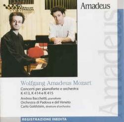 Concerti per pianoforte e orchestra K 413, K 414, K 415 [Audioregistrazione]