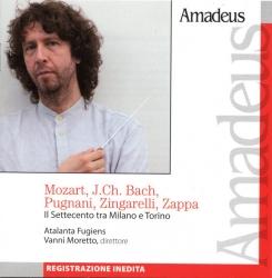 Il Settecento tra Milano e Torino [Audioregistrazione] / Mozart, J. Ch. Bach, Pugnani, Zingarelli, Zappa ; Atalanta Fugiens ; Vanni Moretto, direttore