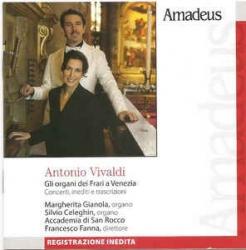 Concerti per organo [Audioregistrazione] / Vivaldi ; Margherita Gianola, organo ; Silvio Celeghin, organo ; Accademia di San Rocco ; Francesco Fanna, direttore